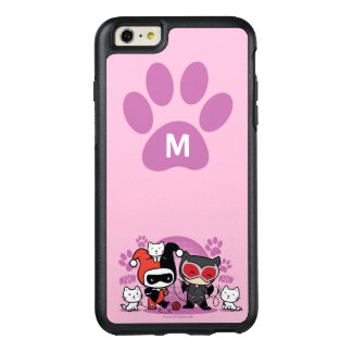 Monogram Chibi Harley Quinn & Catwoman With Cats OtterBox iPhone 6/6s Plus Case