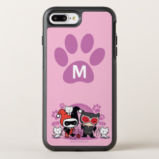 Monogram Chibi Harley Quinn & Catwoman With Cats OtterBox Symmetry iPhone 7 Plus Case