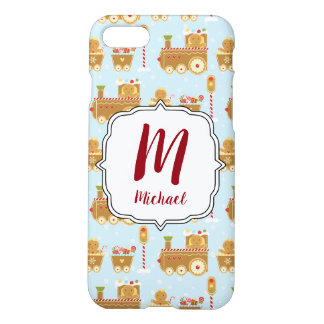 Monogram Christmas Gingerbread Train  Phone Case