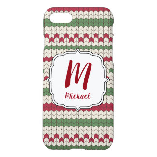 Monogram Christmas Ugly Sweater Phone Case