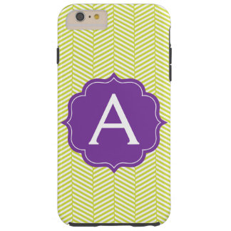 Monogram Citron Chevron with Purple Tough iPhone 6 Plus Case