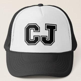 Monogram 'CJ' Trucker Hat