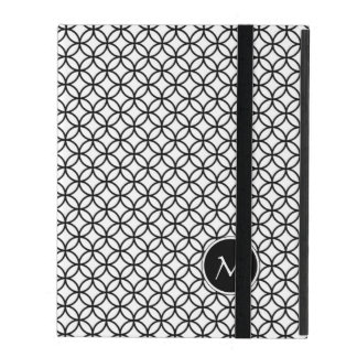 Monogram | Classic Abstract Moroccan Pattern iPad Folio Case