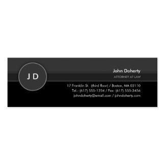 Monogram   Classic Attorney at Law Pack Of Skinny Business Cards