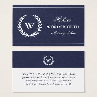 Monogram Classic Professional Business Card