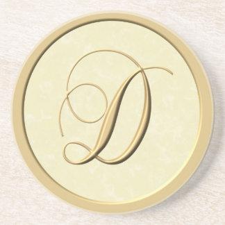 Monogram coasters - letter D