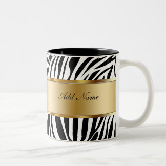 Monogram Coffee Mugs Zebra