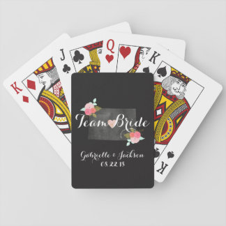 Monogram Colorado State Chic Floral Couples Poker Deck