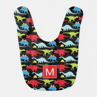 Monogram | Colorful Dinosaurs Bib