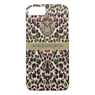 Monogram Colorful Leopard Print iPhone 7 Case