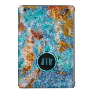 Monogram Colorful Marble Stone Texture iPad Mini Covers