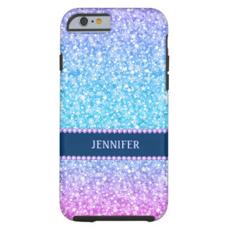 Monogram Colorful Retro Glitter & Diamonds Tough iPhone 6 Case