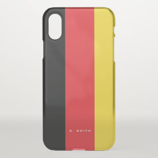 Monogram. Colors of Germany Flag. iPhone X Case