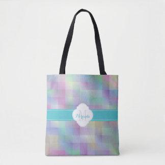 Monogram colour pattern tote bag