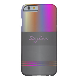 Monogram colour spectrum on black barely there iPhone 6 case