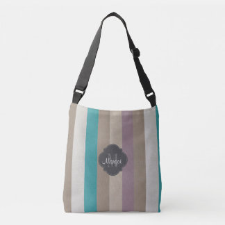 Monogram colourful striped crossbody bag