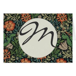 Monogram Compton Wallpaper Trendy William Morris Card