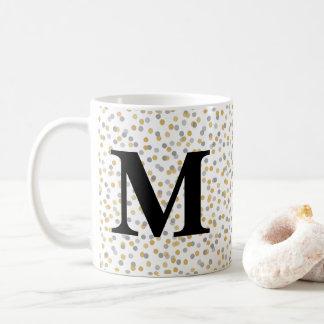 Monogram Confetti Coffee Mug