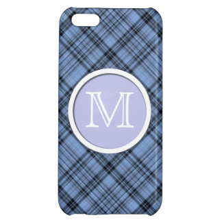 Monogram Cornflower Blue Plaid iPhone 5C Case