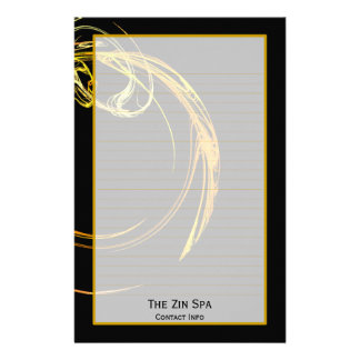 Monogram Cosmic Glass III Fine Lined Stationery
