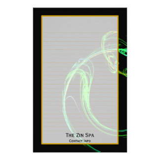Monogram Cosmic Glass IV Fine Lined Stationery