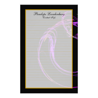 Monogram Cosmic Glass VII Fine Lined Stationery