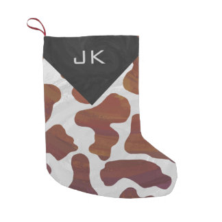 Monogram Cow Brown and White Print Pattern
