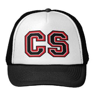 Monogram 'CS' initials Mesh Hat