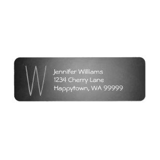 Monogram Custom Chalkboard Vignette Return Address Return Address Label