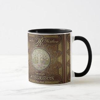 Monogram Custom Family Tree Anniversary Mug