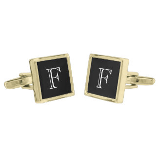 Monogram Custom Gold Finish Cufflinks