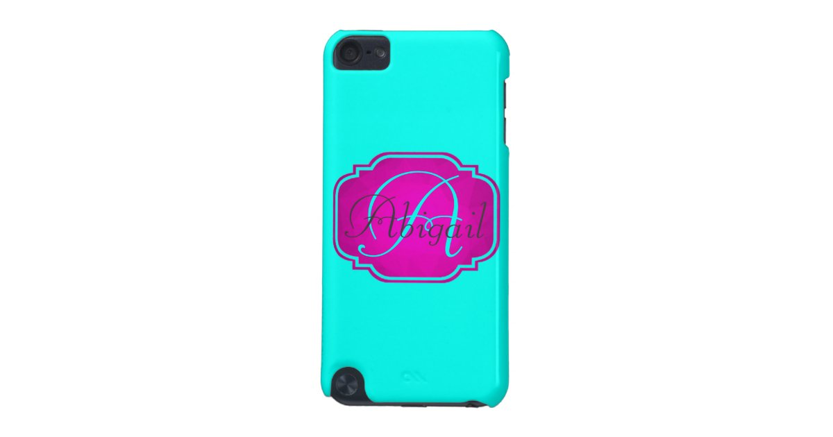 Monogram - Customisable Pink and Blue iPod Touch (5th ...