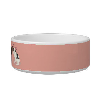Monogram. Cute French Bulldog. Bowl