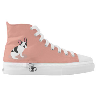 Monogram. Cute French Bulldog. High Tops