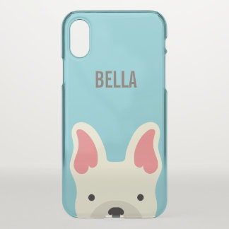 Monogram. Cute French Bulldog. iPhone X Case