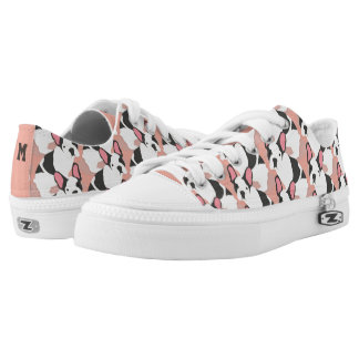 Monogram. Cute French Bulldog. Low Tops