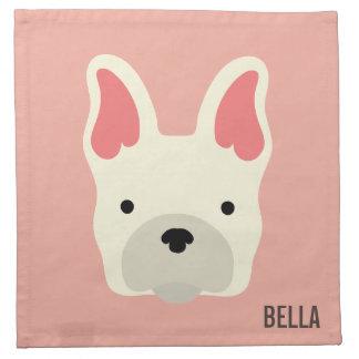 Monogram. Cute French Bulldog. Napkin