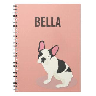 Monogram. Cute French Bulldog. Notebook