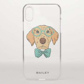 Monogram. Cute & Funny Labrador Retriever Hipster iPhone X Case