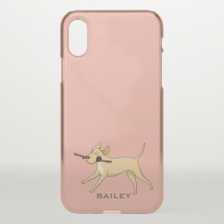 Monogram. Cute Labrador Retriever. iPhone X Case
