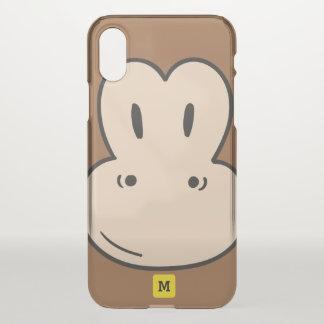 Monogram: Cute Monkey Safari Pattern. iPhone X Case