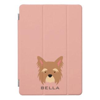 Monogram. Cute Yorkie Terrier. iPad Pro Cover