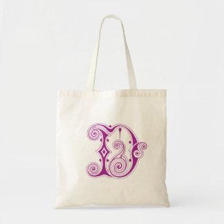 """Monogram """"D"""" Tote Bag"""