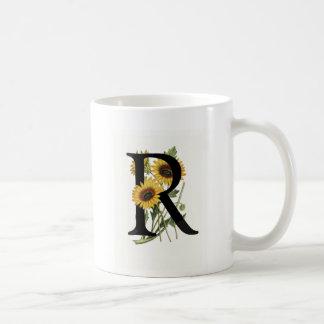 Monogram Daisy R Mug