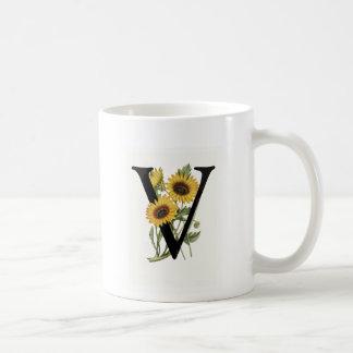 Monogram Daisy V Mug