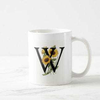 Monogram Daisy W Mug