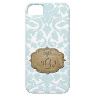 Monogram Damask Turquoise iPhone 5 Case