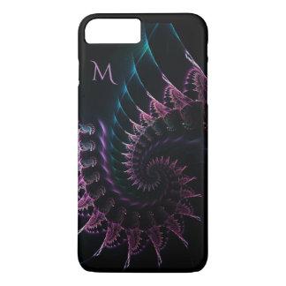 Monogram Dark Fractal Swirl iPhone 7 Plus Case
