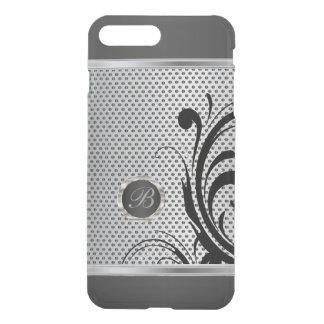 Monogram Dark Gray and Silver Mesh iPhone 8 Plus/7 Plus Case