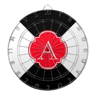 Monogram decoration dartboard
